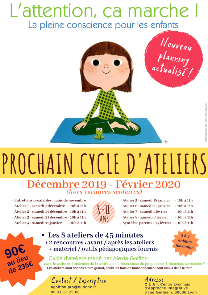 Calendrier prochain cycle ACTUALISE Dec19 - Fev20 - L'Attention ça marche - 8-11 ans